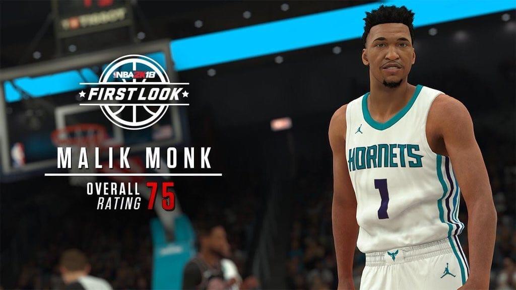 Malik Monk's skin tone seems off to me.