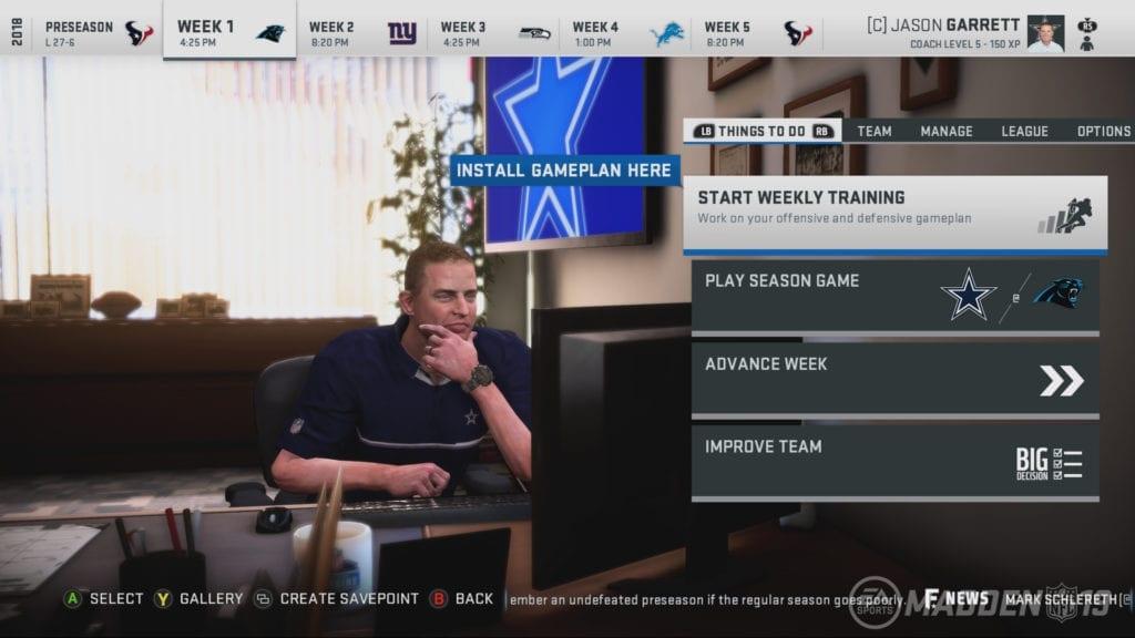 Madden NFL 19 Screenshot - Franchise Mode 2