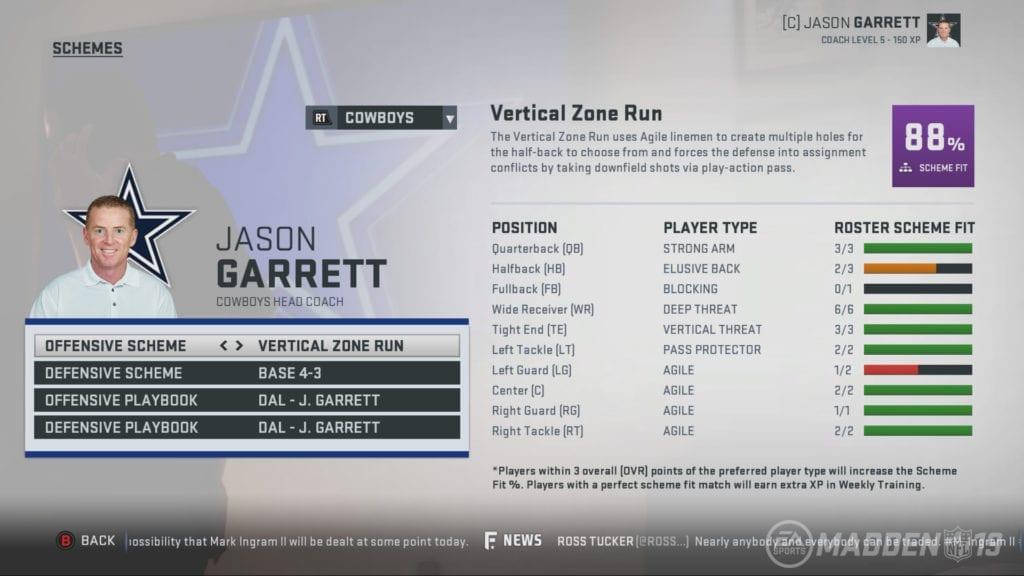Madden NFL 19 Screenshot - Jason Garrett