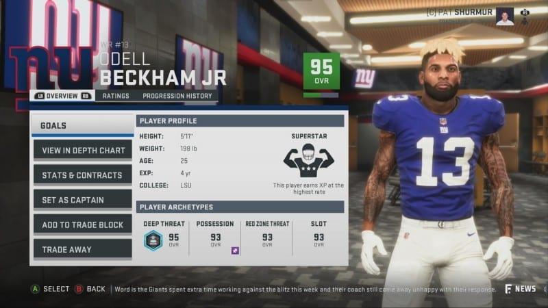Madden NFL 19 Franchise Mode Details Schemes Player