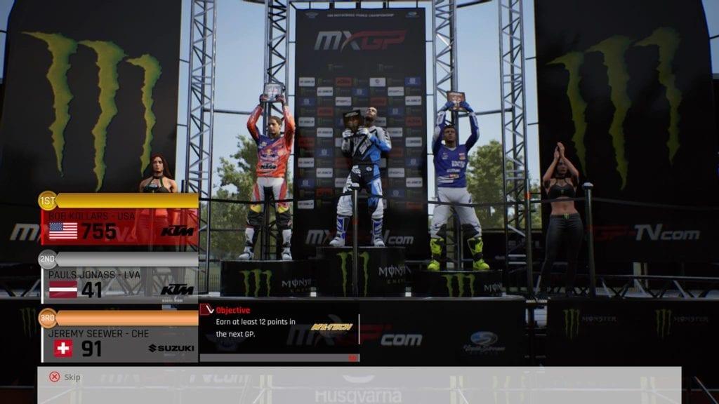 MX podium