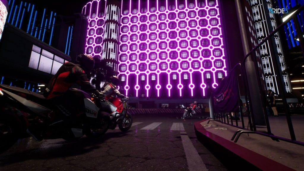 night time purple