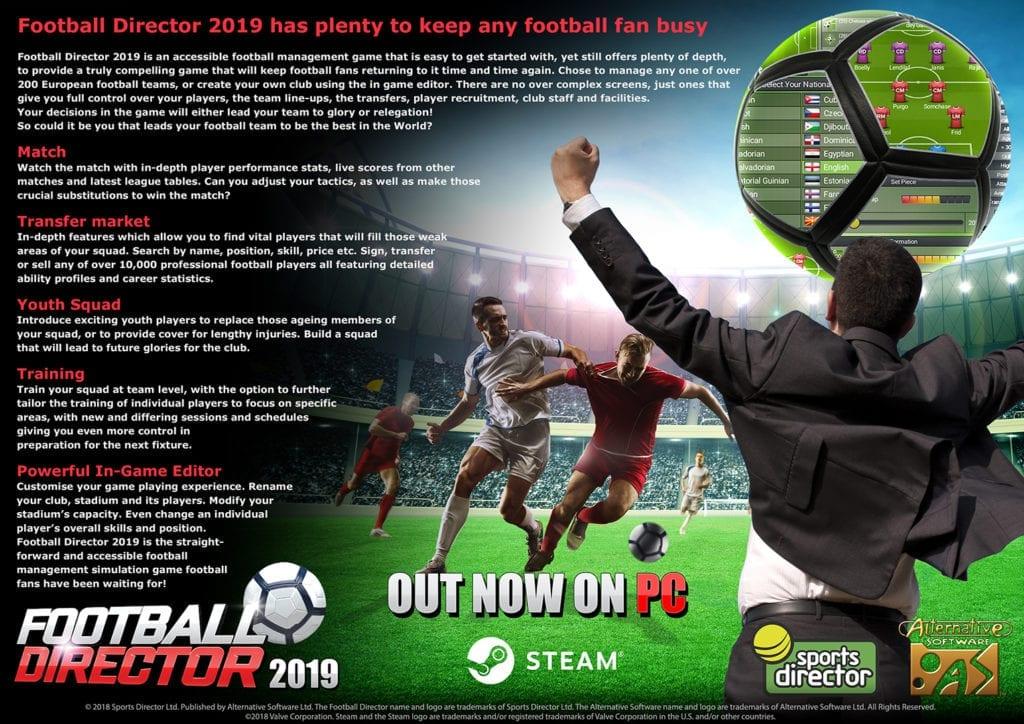 FootballDirector InfoSheet_OutNow