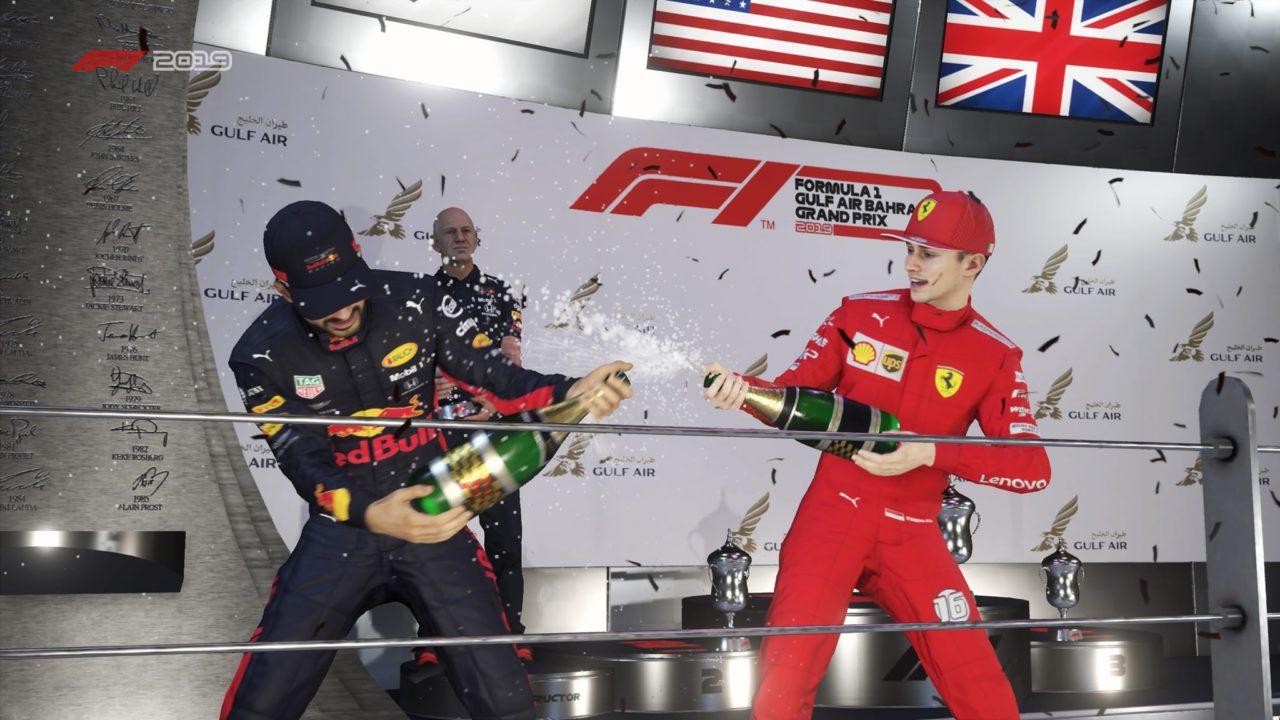 F1 career mode podium