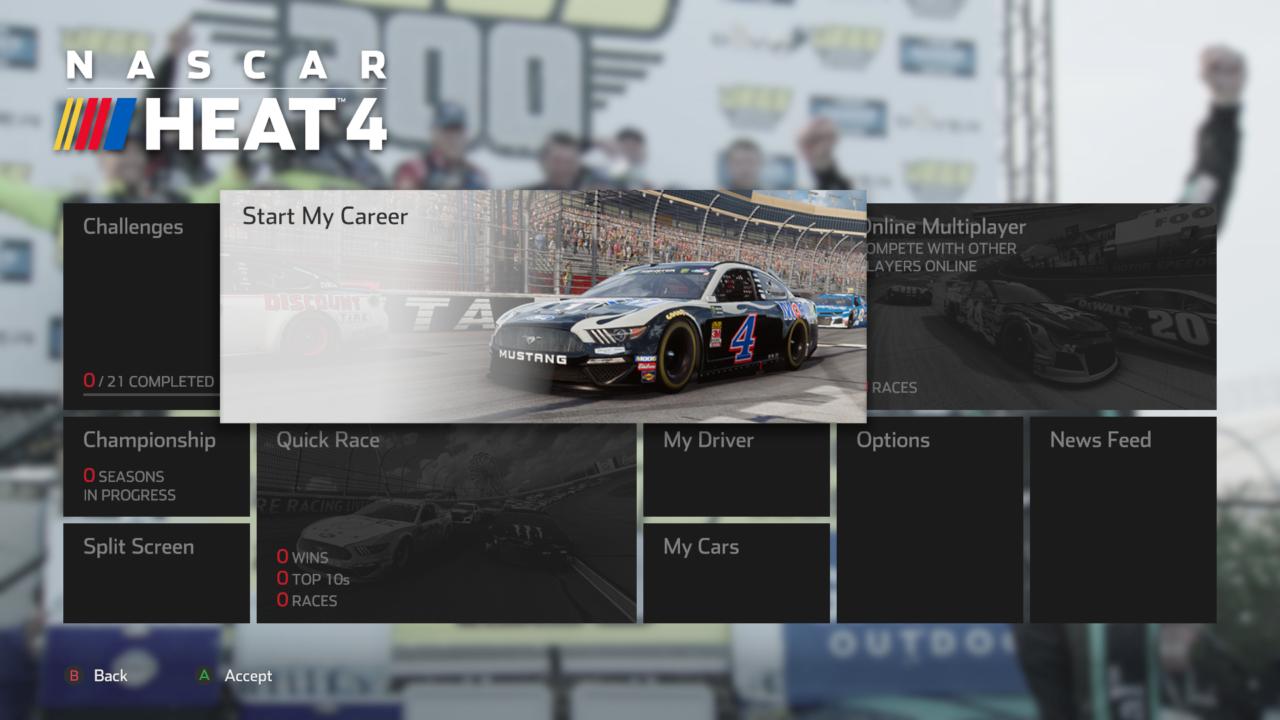 NASCAR Heat 4 _ Menu UI