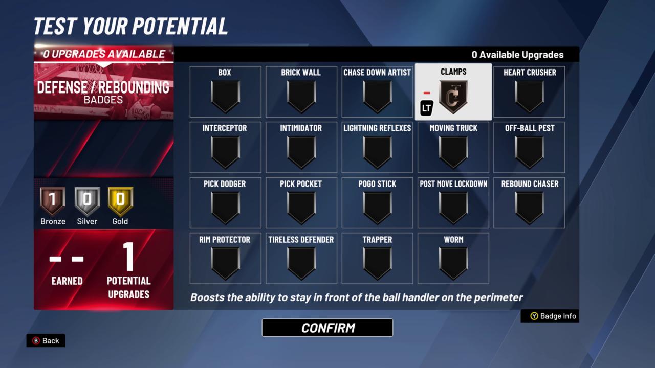 NBA2K20 Defense-Rebound Badges