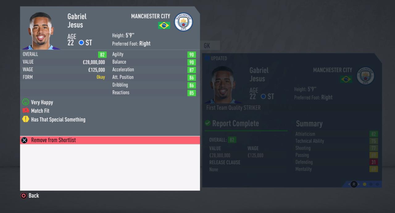 FIFA 20 CM Jesus Value