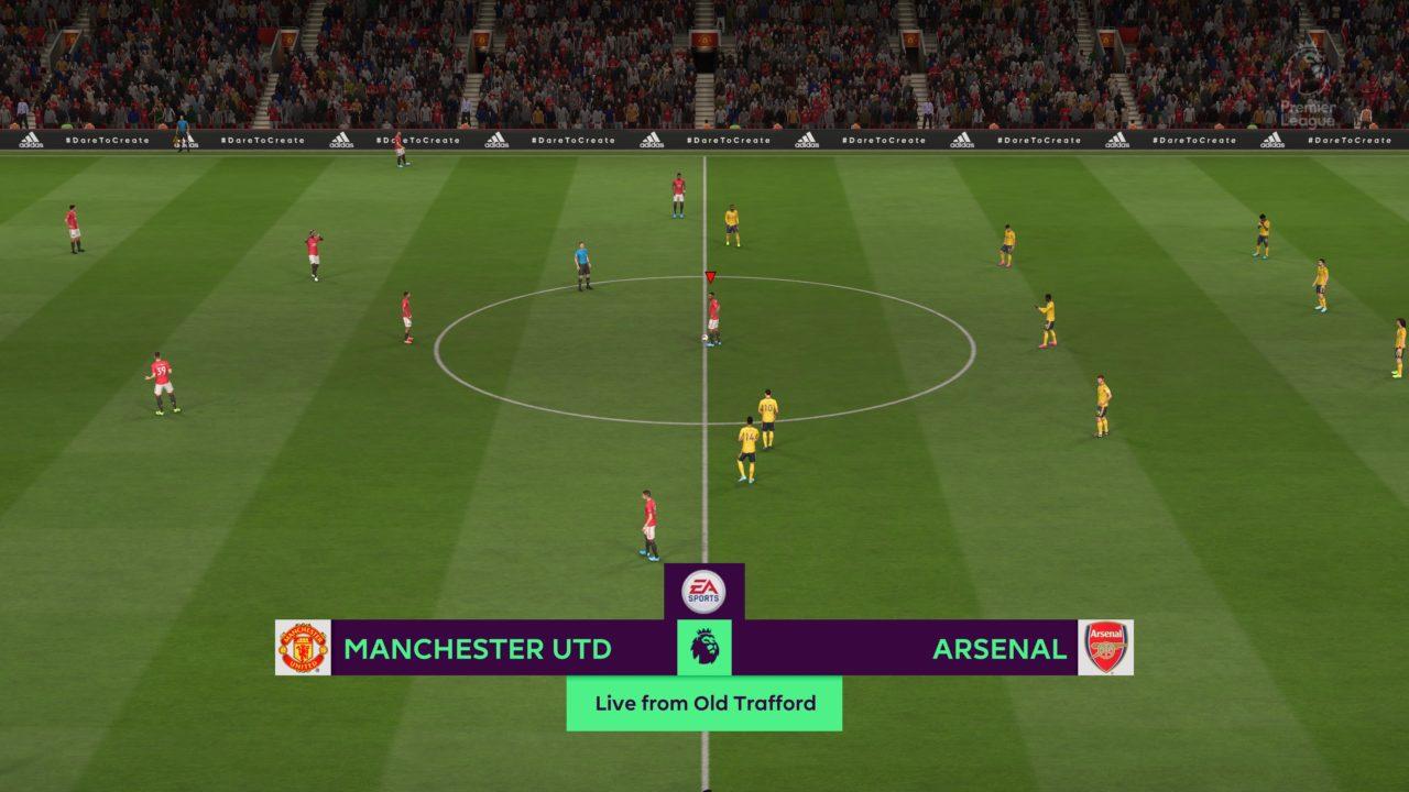 FIFA 20 Offline Match 0-0 MUN V ARS, 1st Half