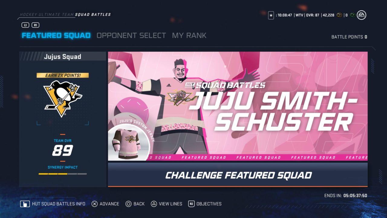 NHL 20 HUT Squad Battles