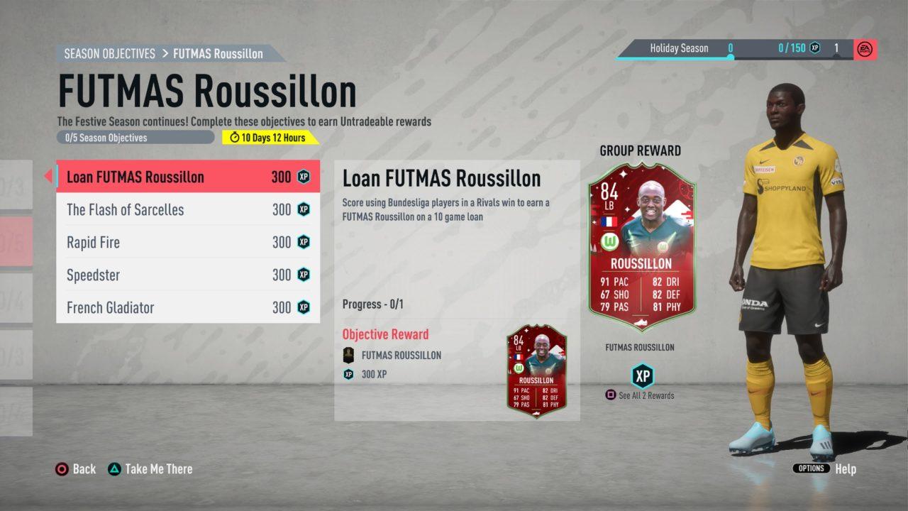 fifa 20 futmas player objective rousillon