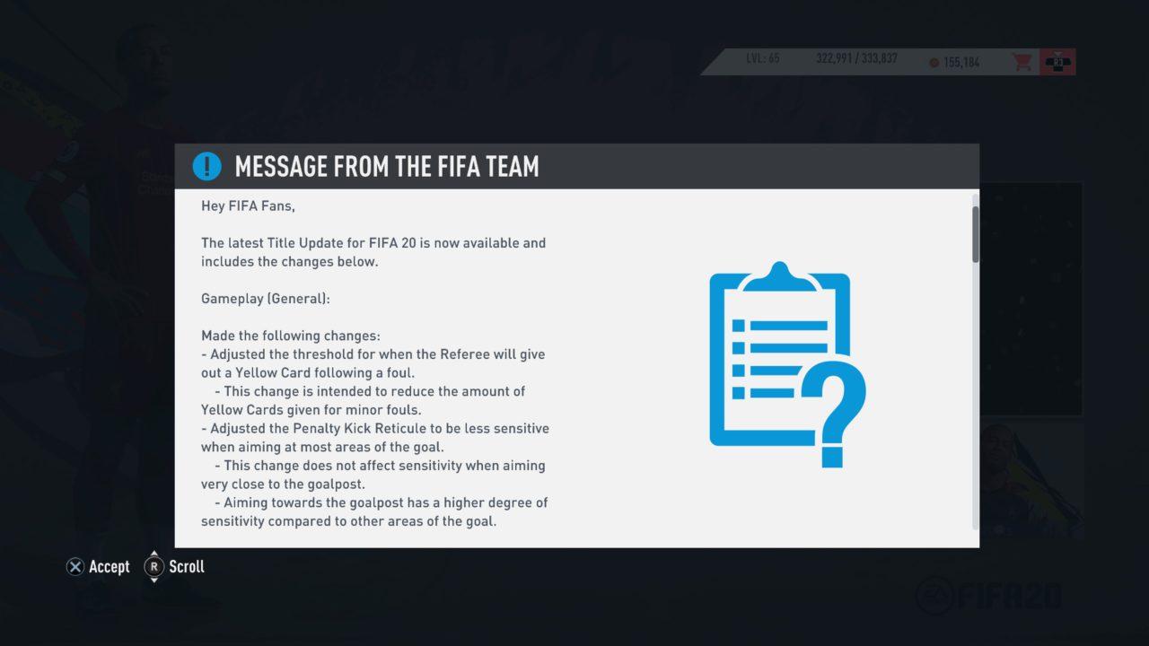 FIFA 20 (In Menus)