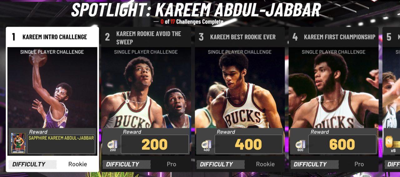 NBA 2K20 MyTeam KAJ challenges