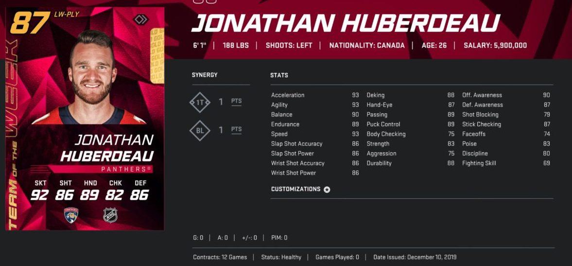 NHL 20 HUT