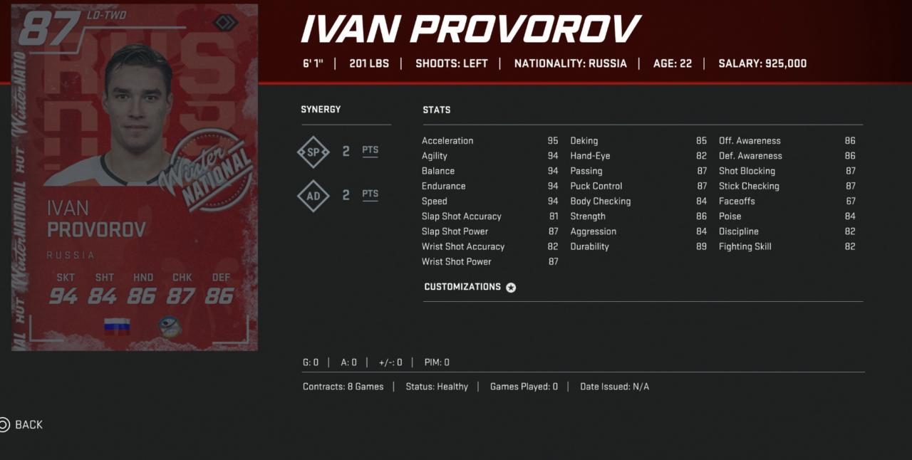 NHL-20-HUT-Winternational-provorov