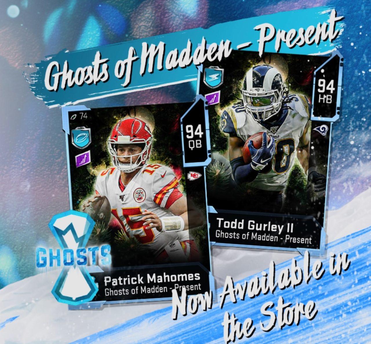 Madden 20 MUT ghosts of madden splash