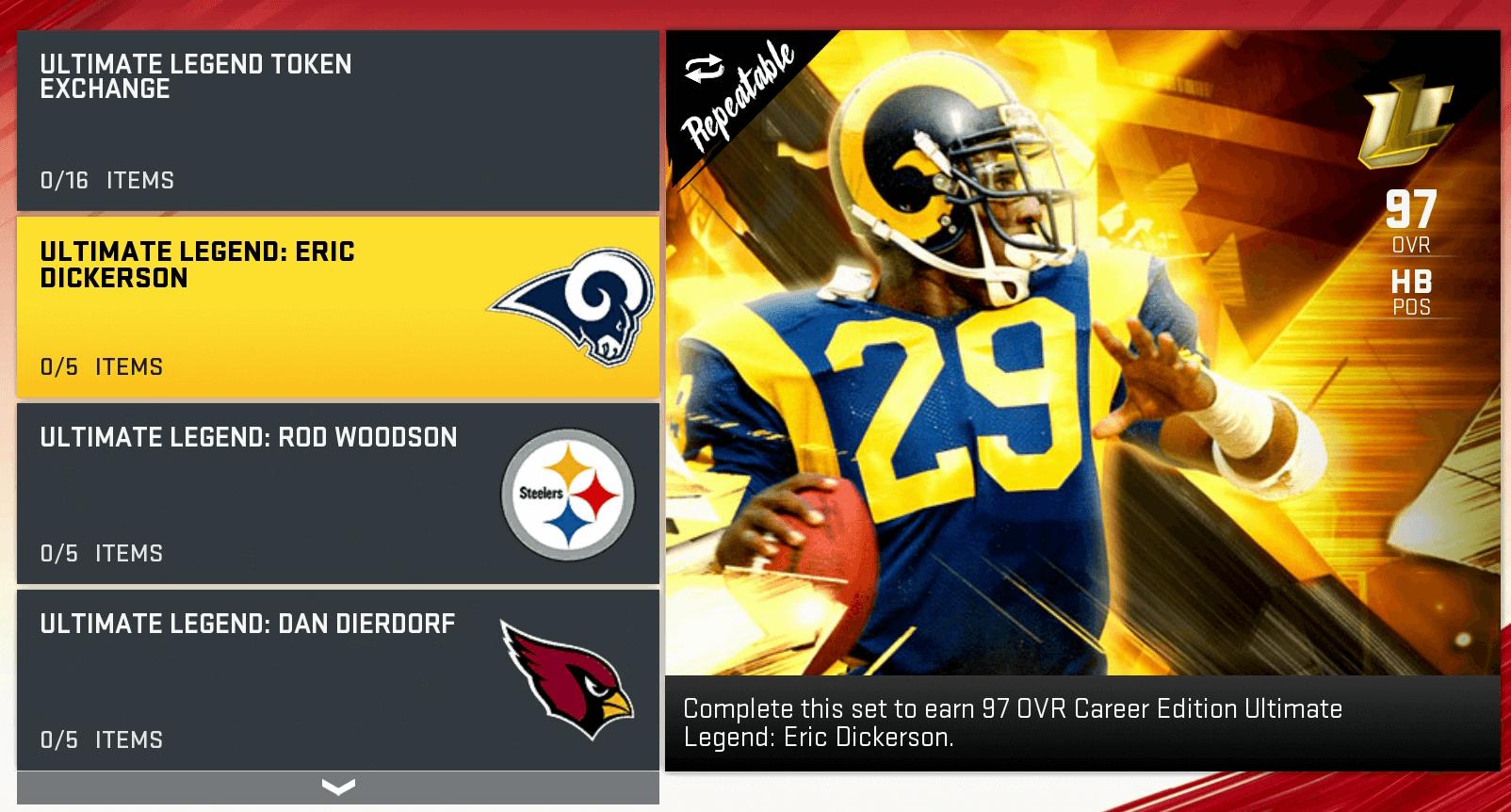 mut ultimate legends sets