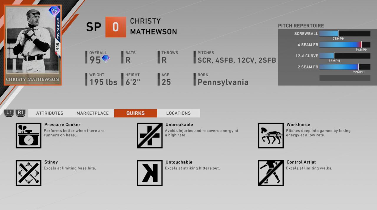 christy-mathewson-headliners-set-11-quirks