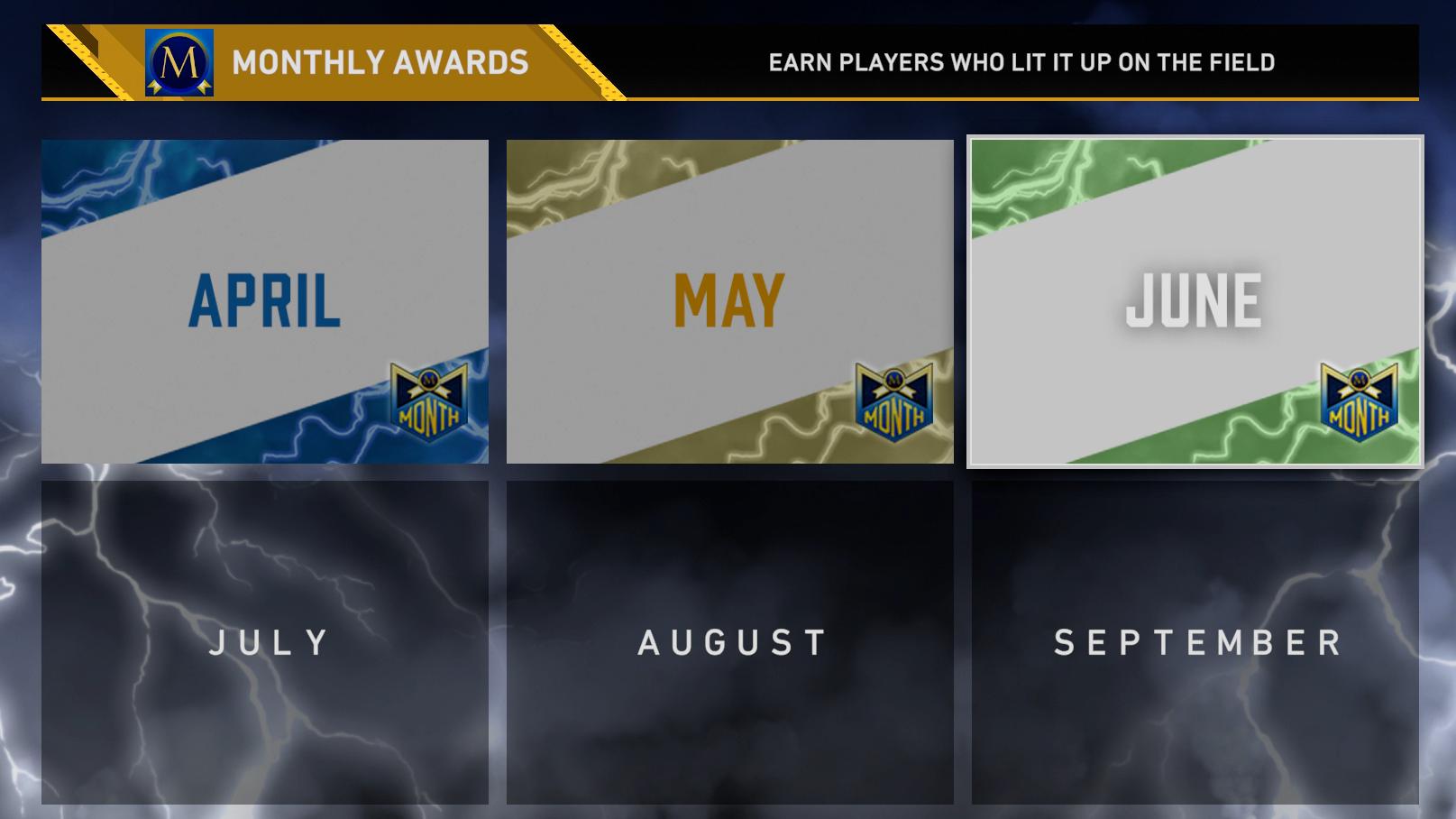 june monthly awards program