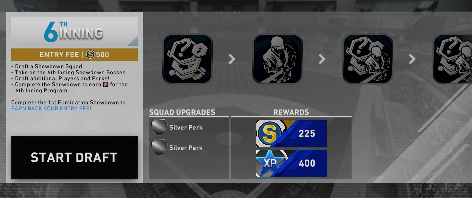 6th inning program showdown