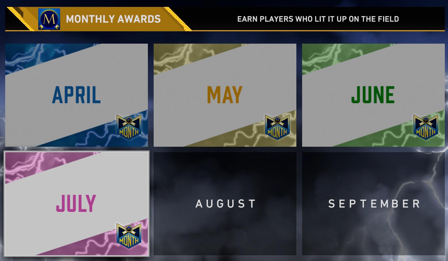 july monthly awards program