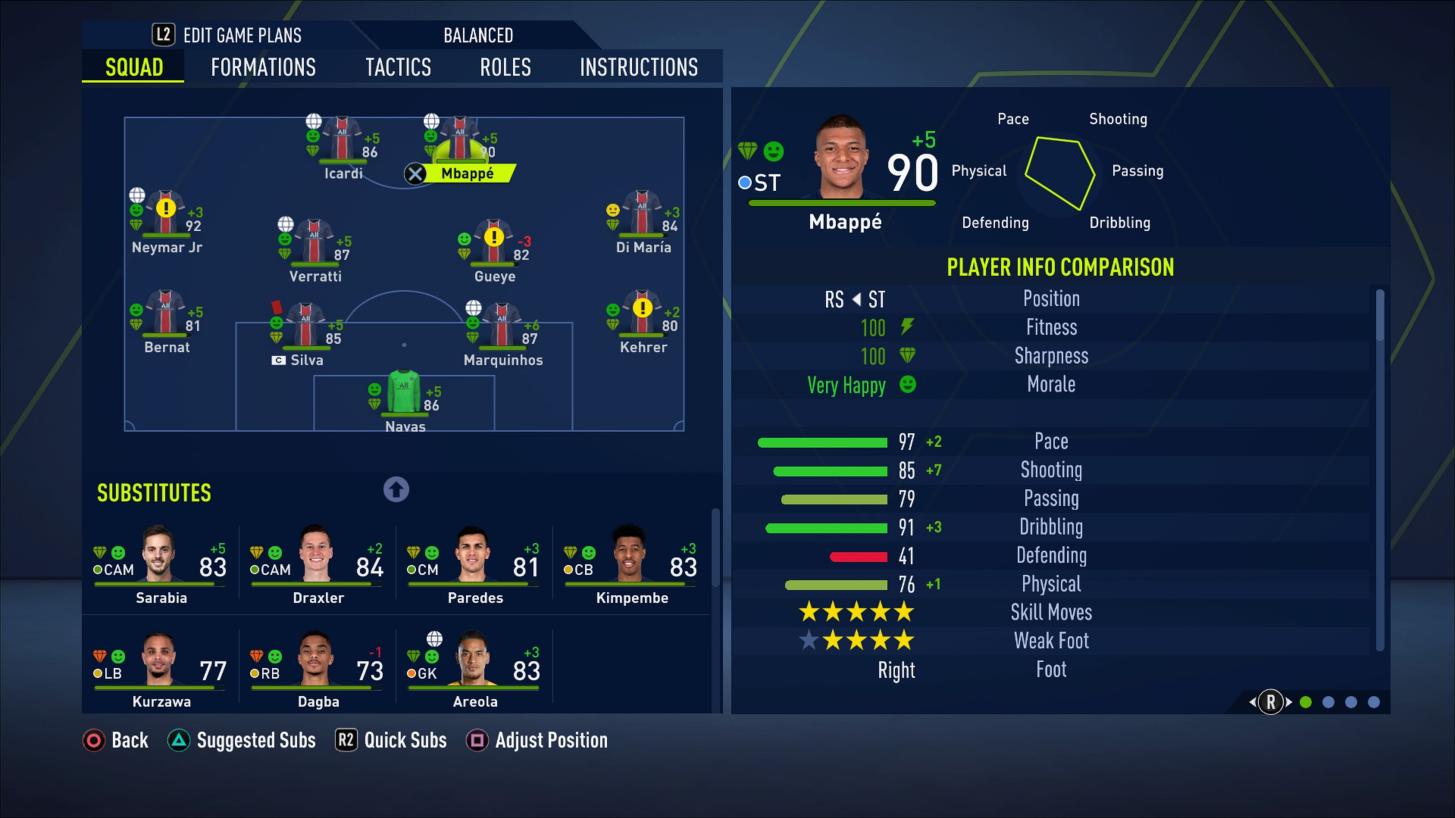 player sharpness