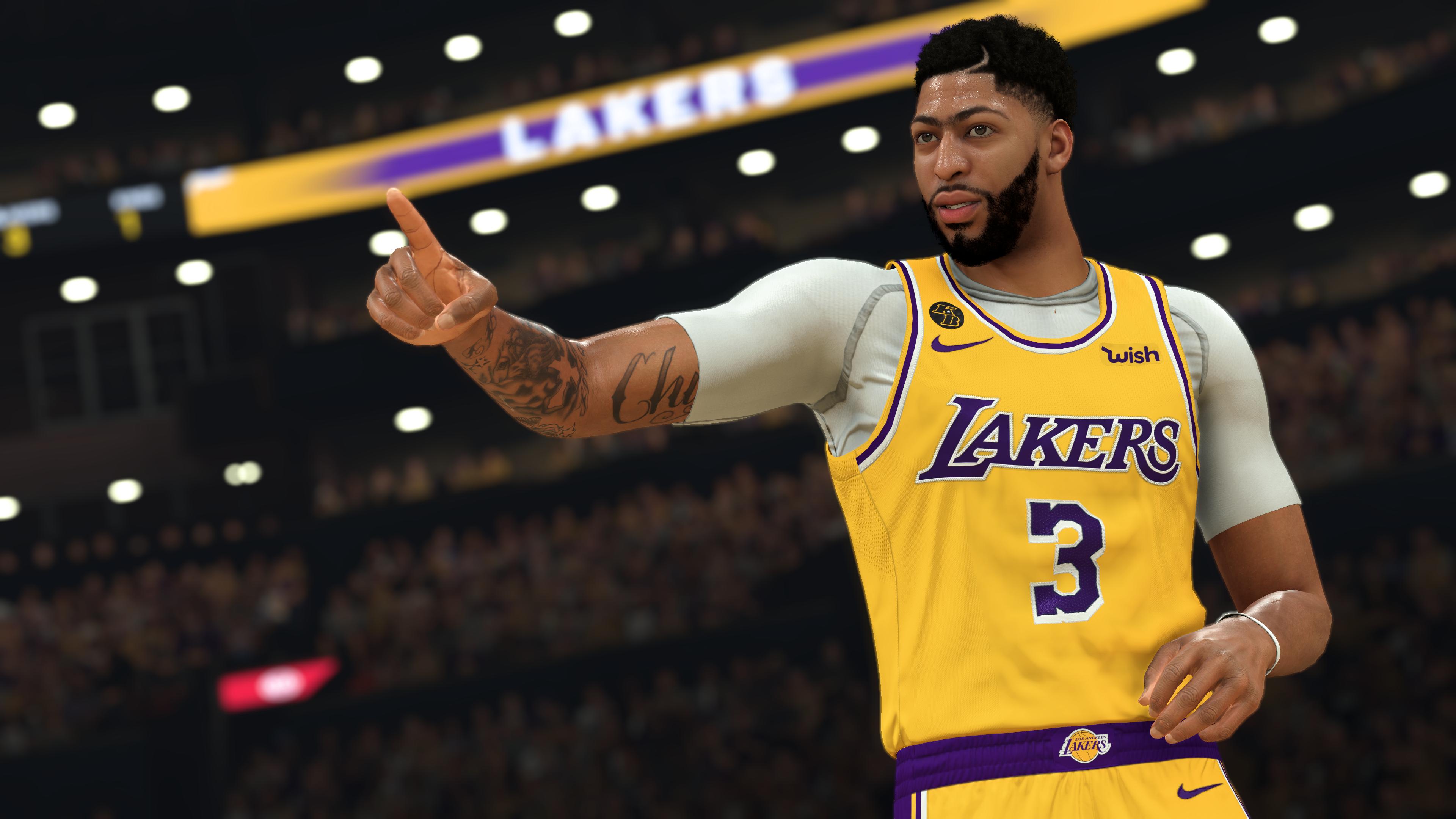 NBA-2K21 CG - Anthony Davis Pointing
