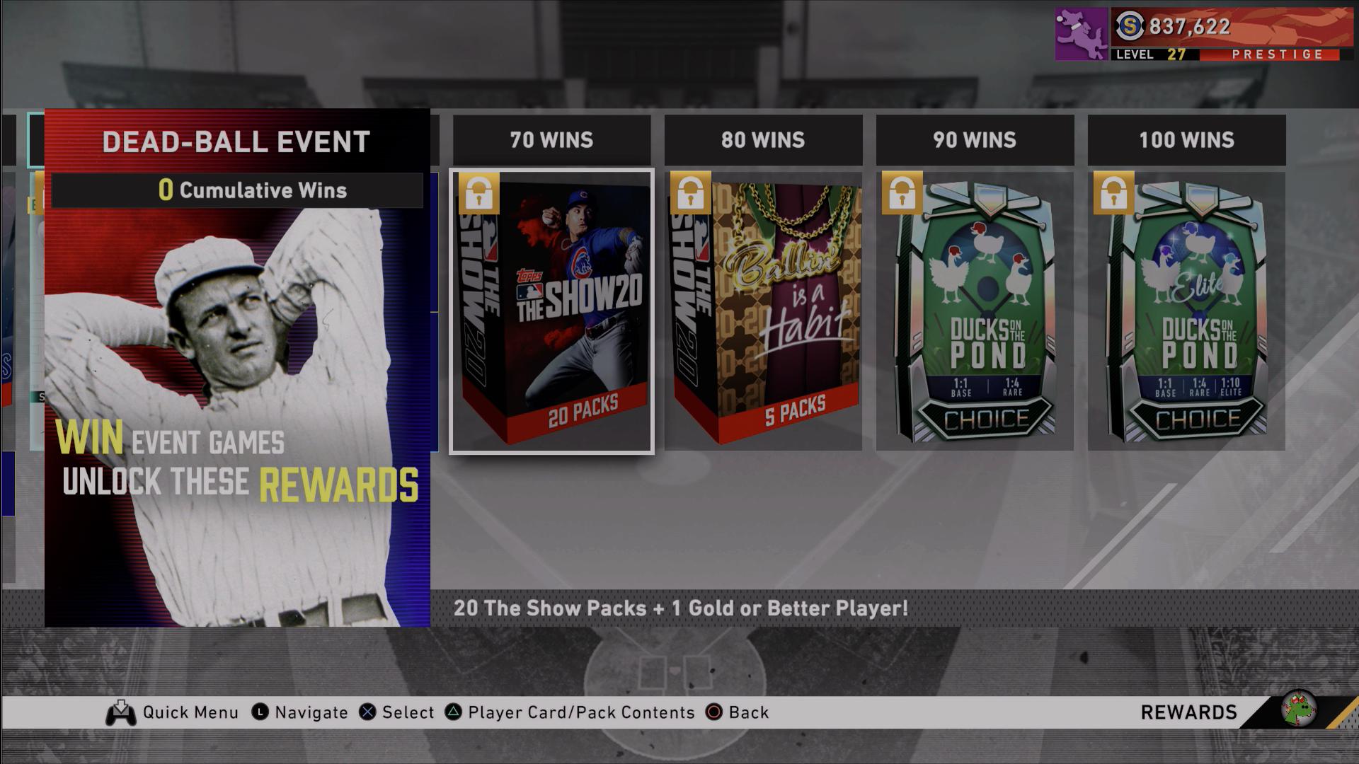 dead-ball event rewards