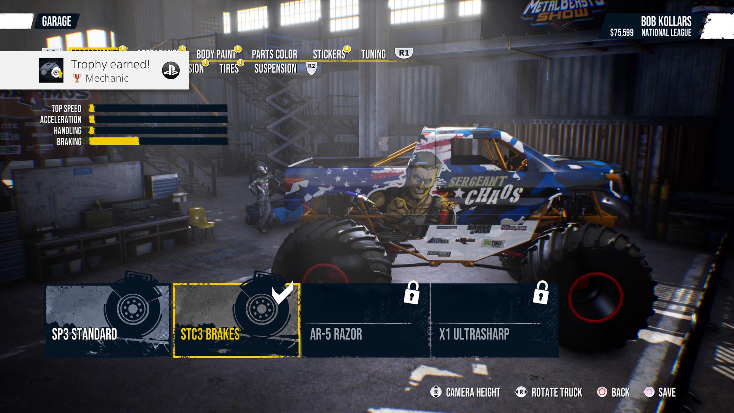 opciones de personalización al jugar Monster Truck Championship jugar