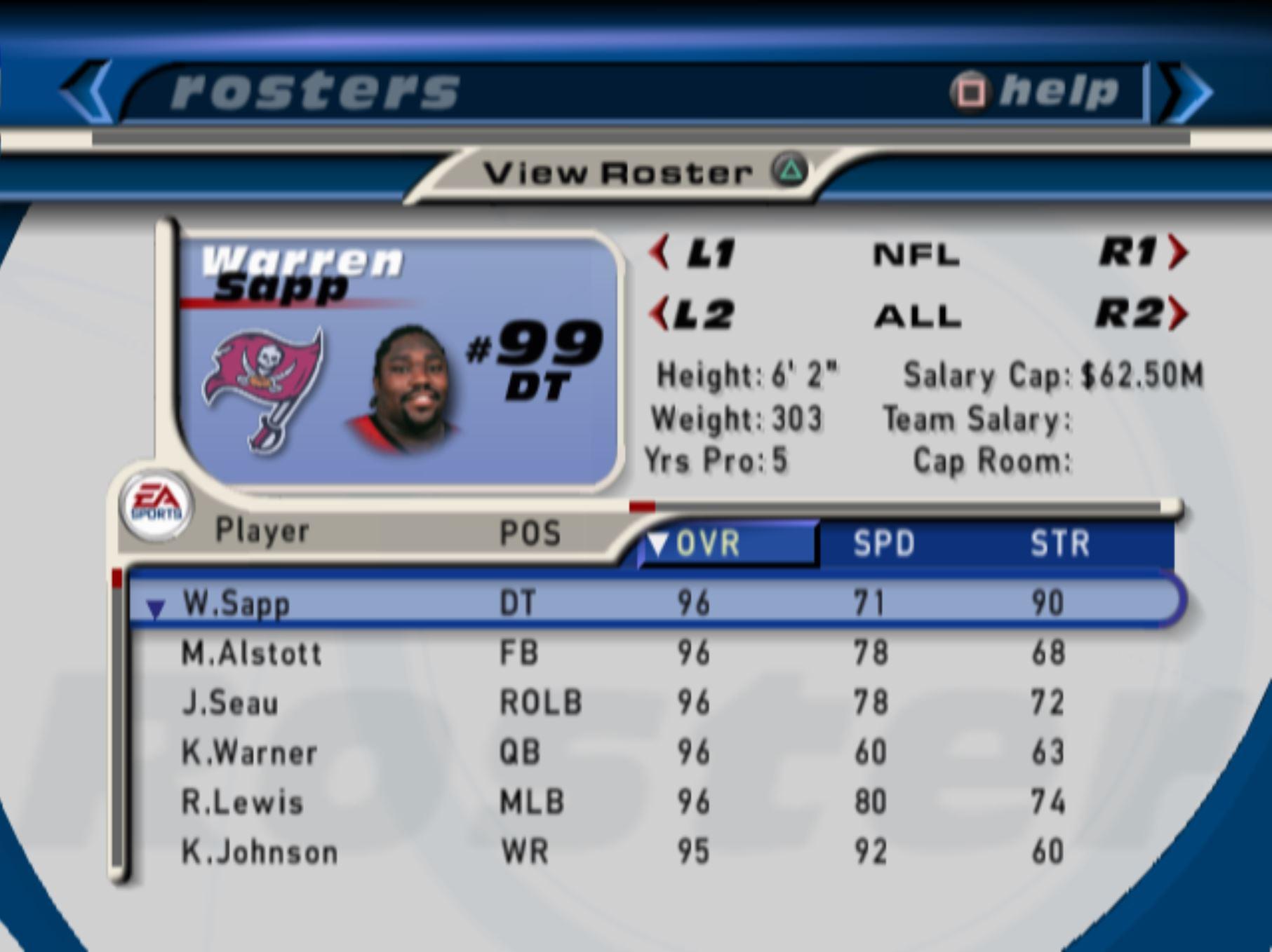 Madden 2001 best players