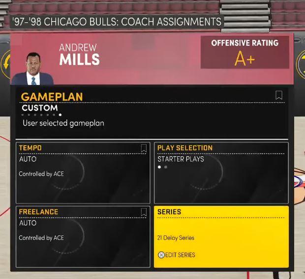 NBA 2K21 custom gameplan