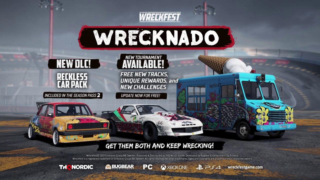 wreckfest wrecknado reckless car pack