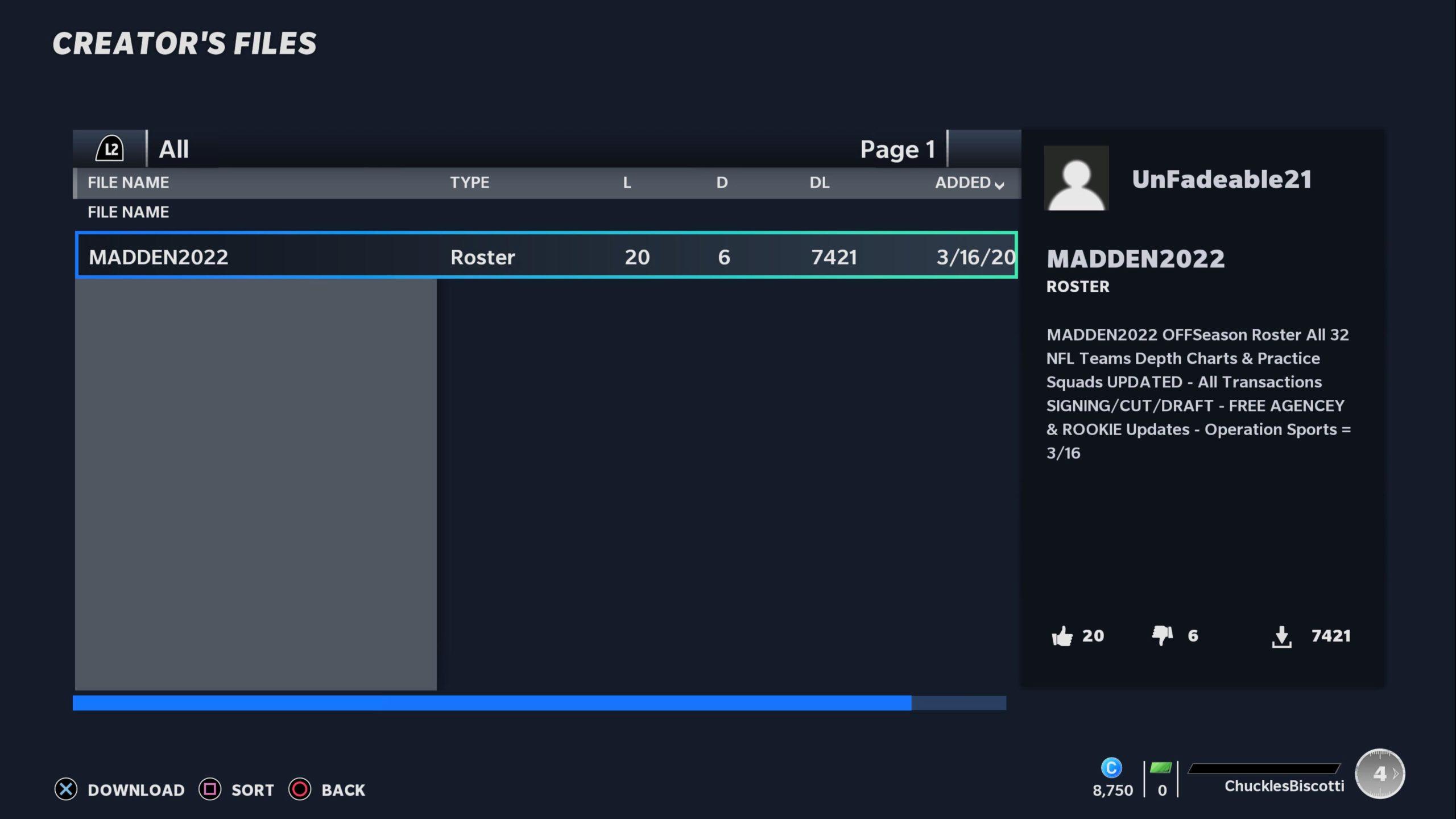 madden 21 free agent update