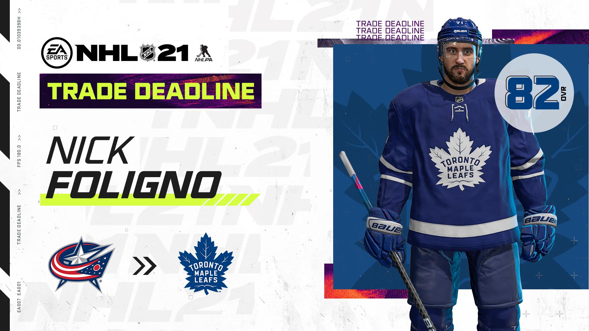 NHL 21 trade deadline - 2