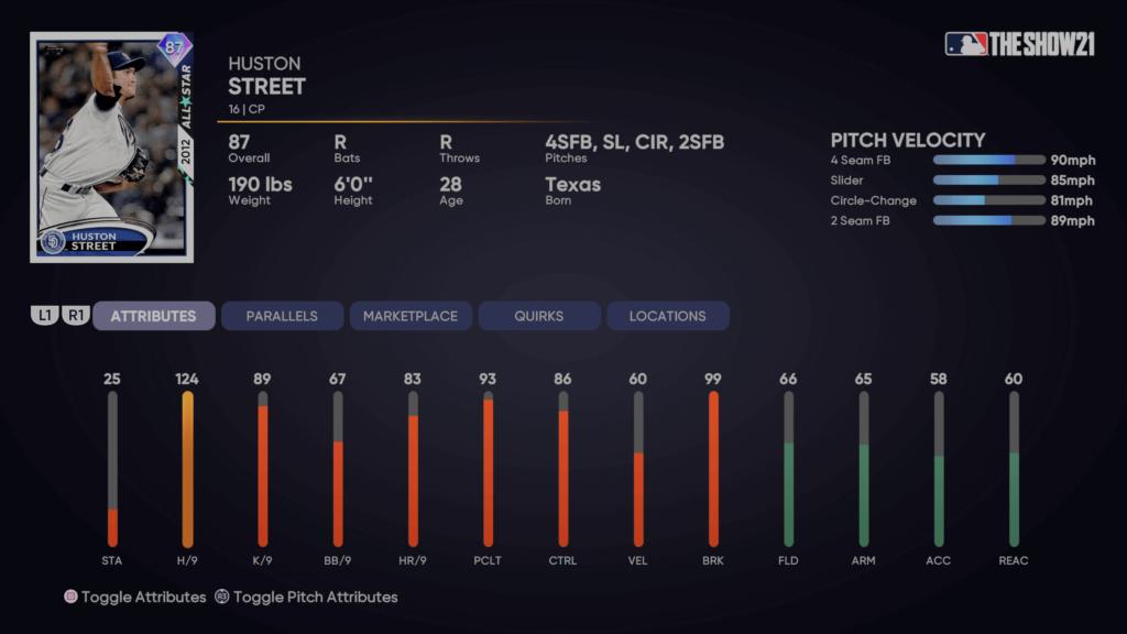 MLB The Show 21 - Huston Street Player Program