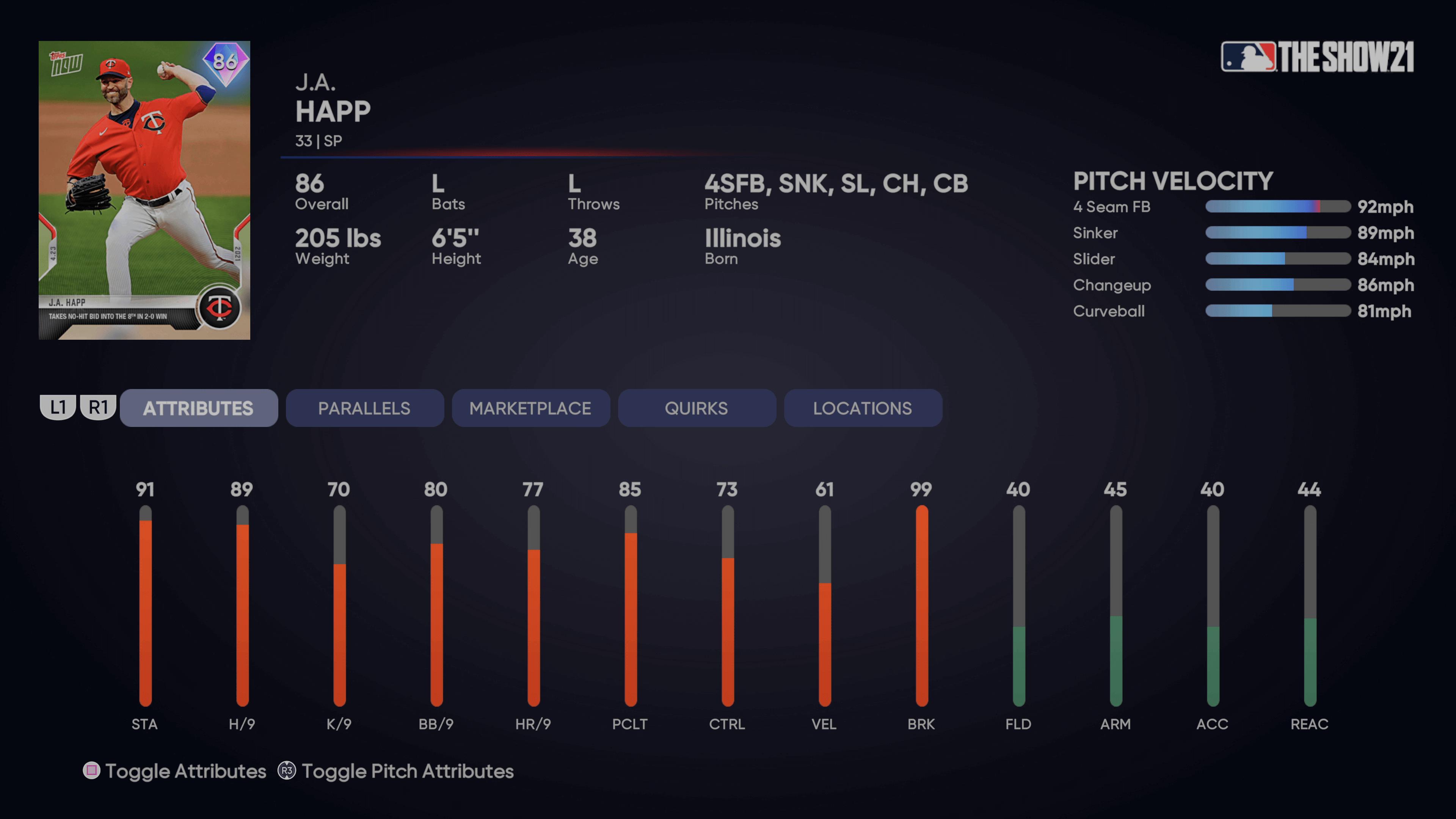 MLB The Show 21 - Topps Now Happ