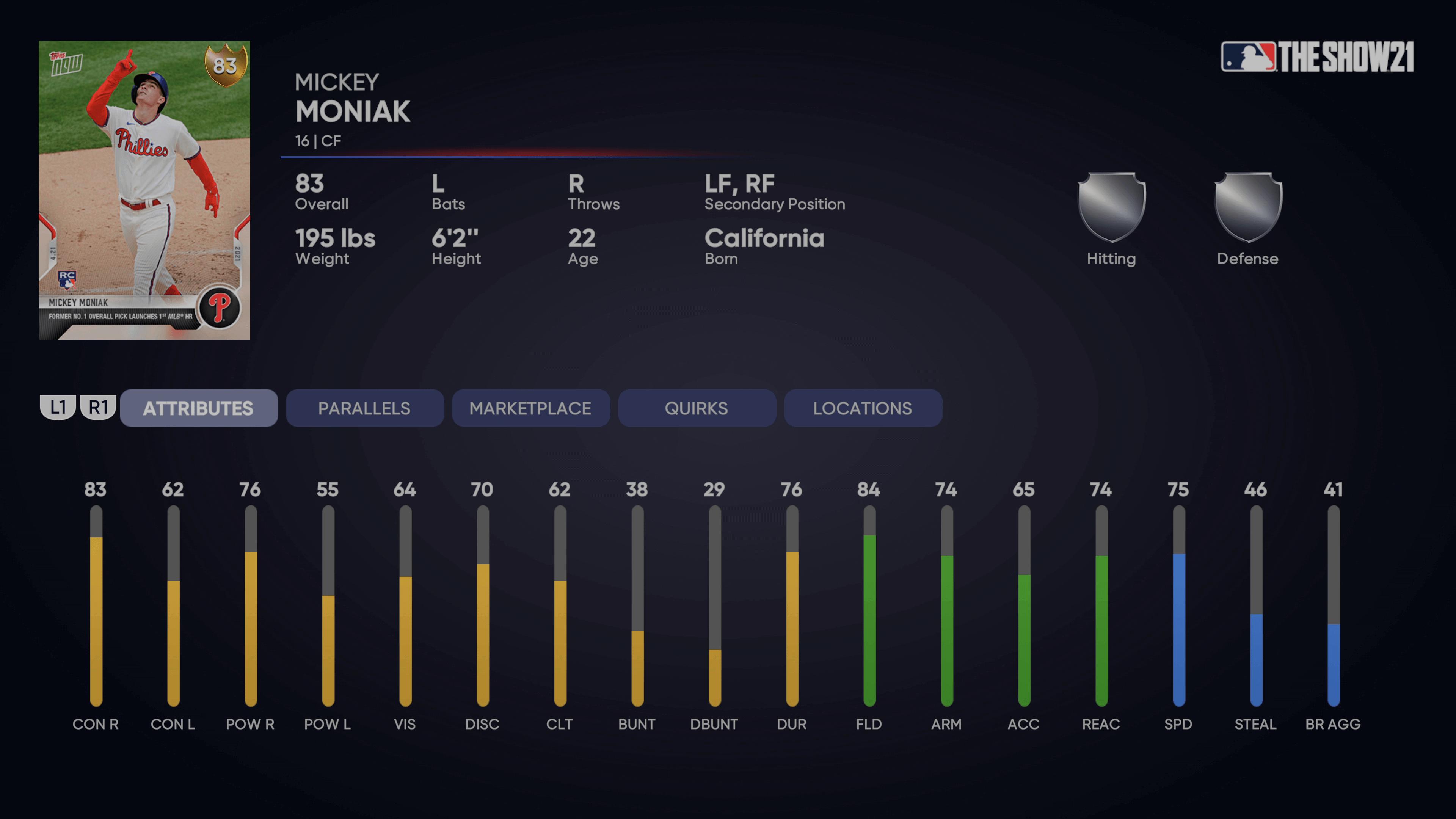 MLB The Show 21 - Topps Now Moniak