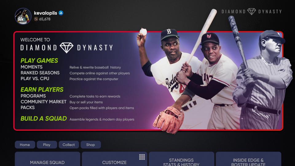 MLB The Show 21 Diamond Dynasty