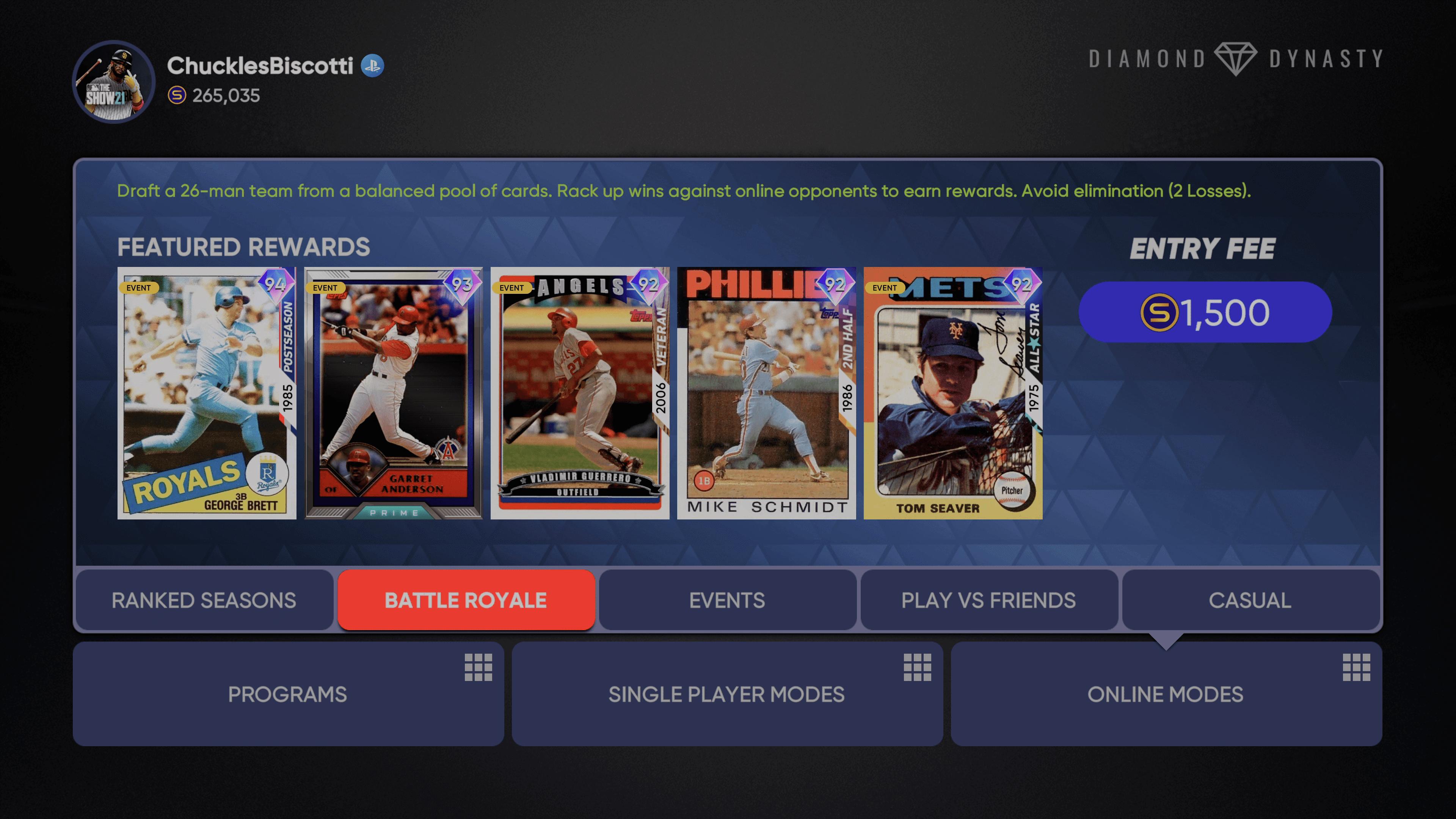 MLB The Show 21 Battle Royale Season 2
