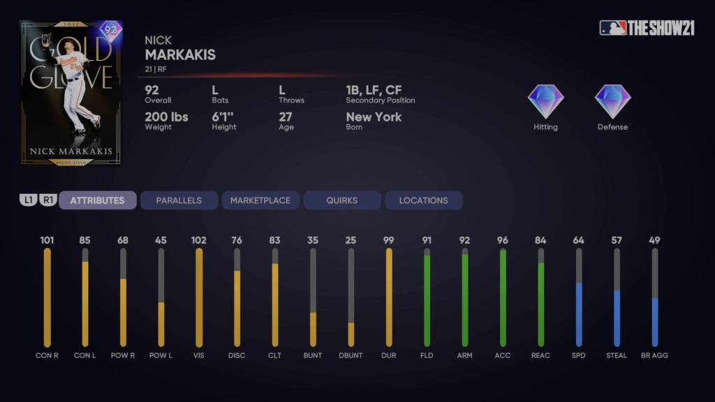 MLB The Show 21 Nick Markakis