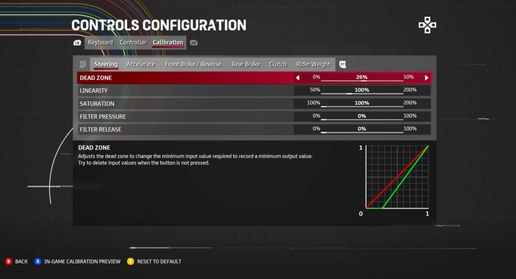 MotoGP 21 advanced controller options