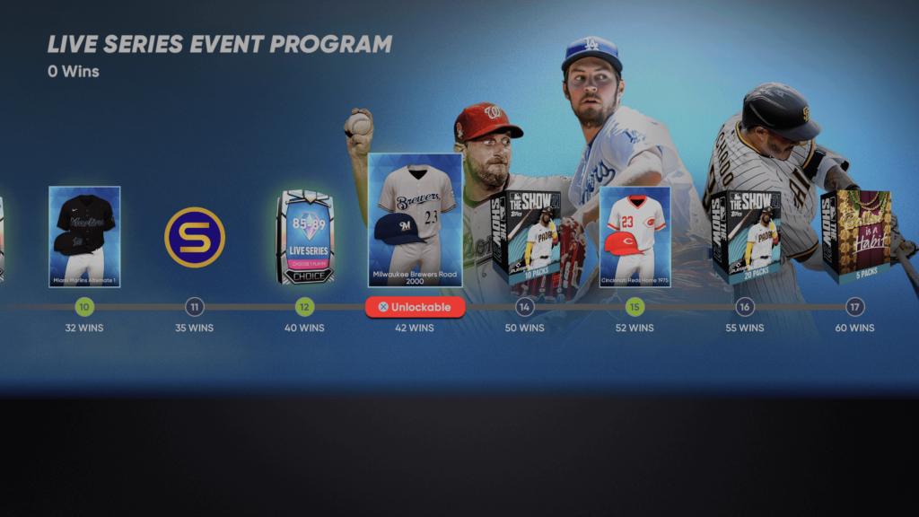 Live Series Event Rewards
