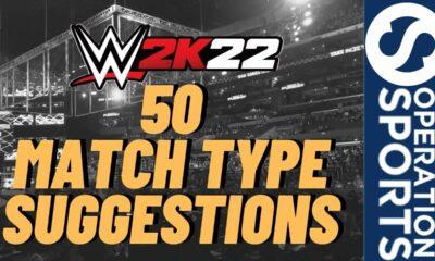 WWE 2K22 match types
