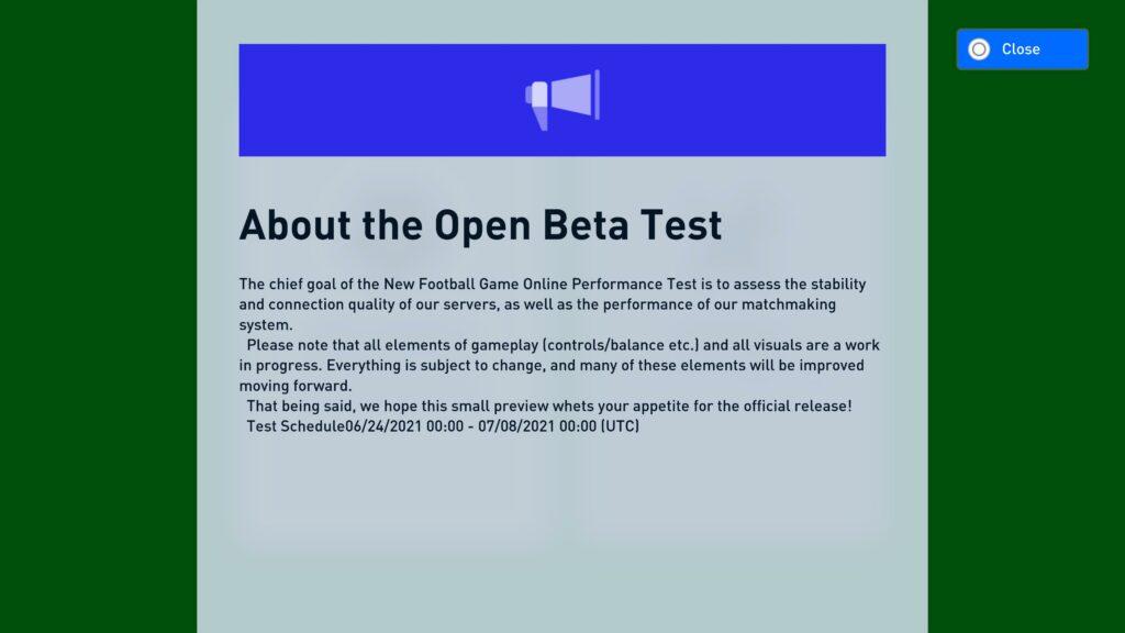 pes 2022 online beta
