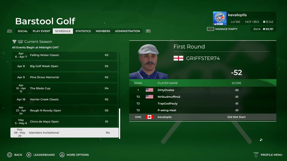 barstool golf online society