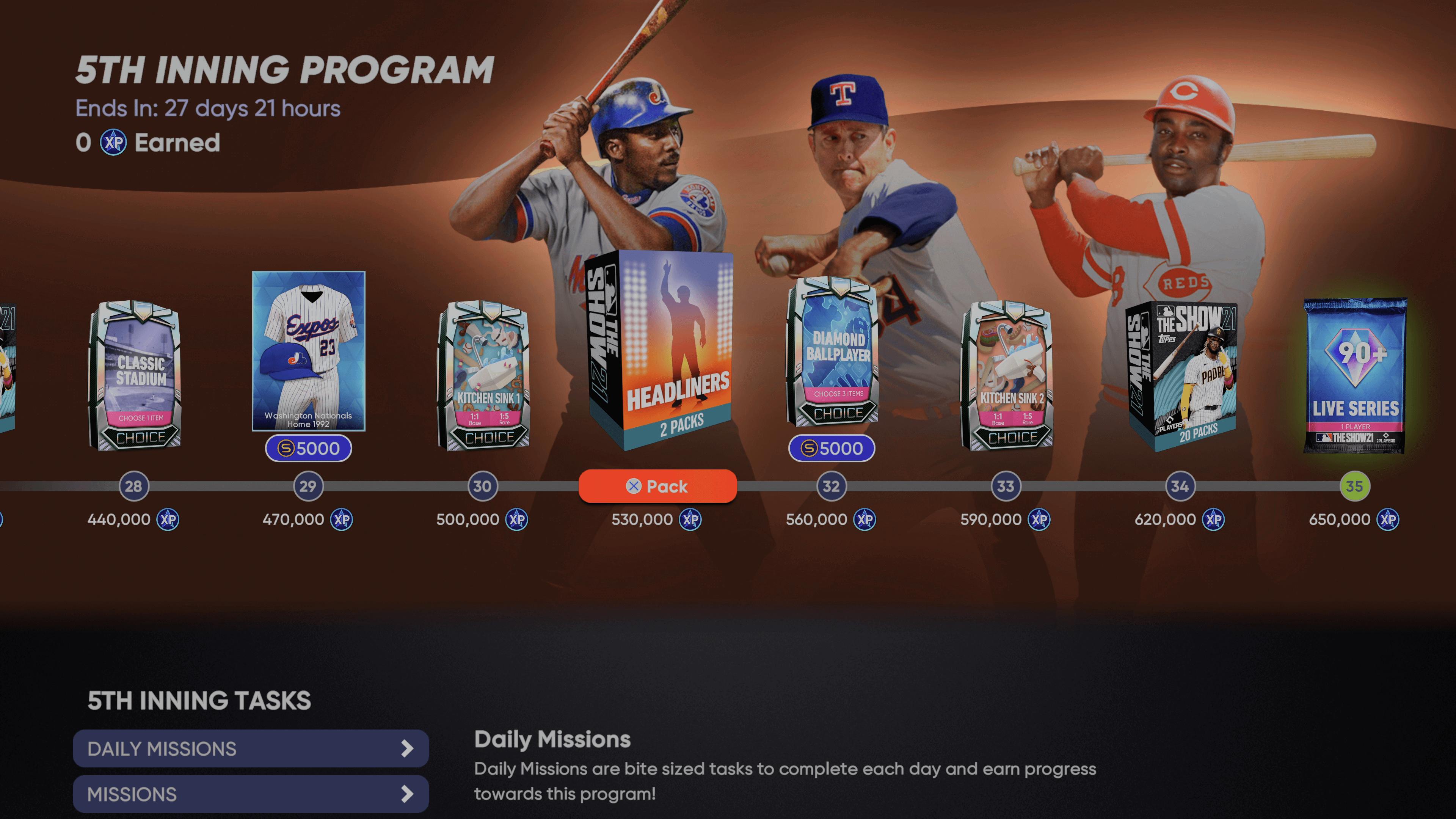 MLB The Show 21 5th Inning Program Guide