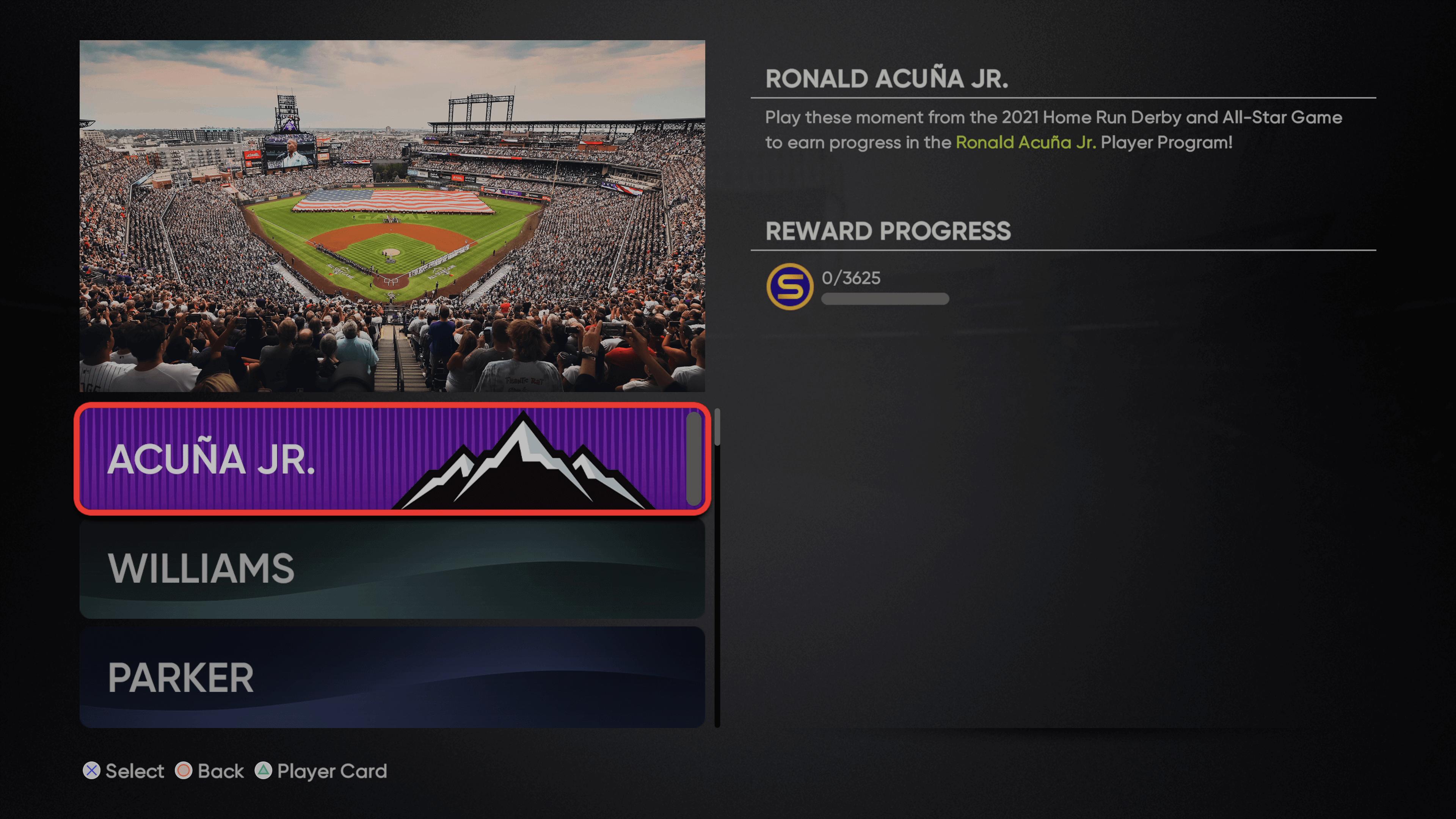 MLB The Show 21 - All-Star Program Ronald Acuna Jr_2021-07-15_15-12-13