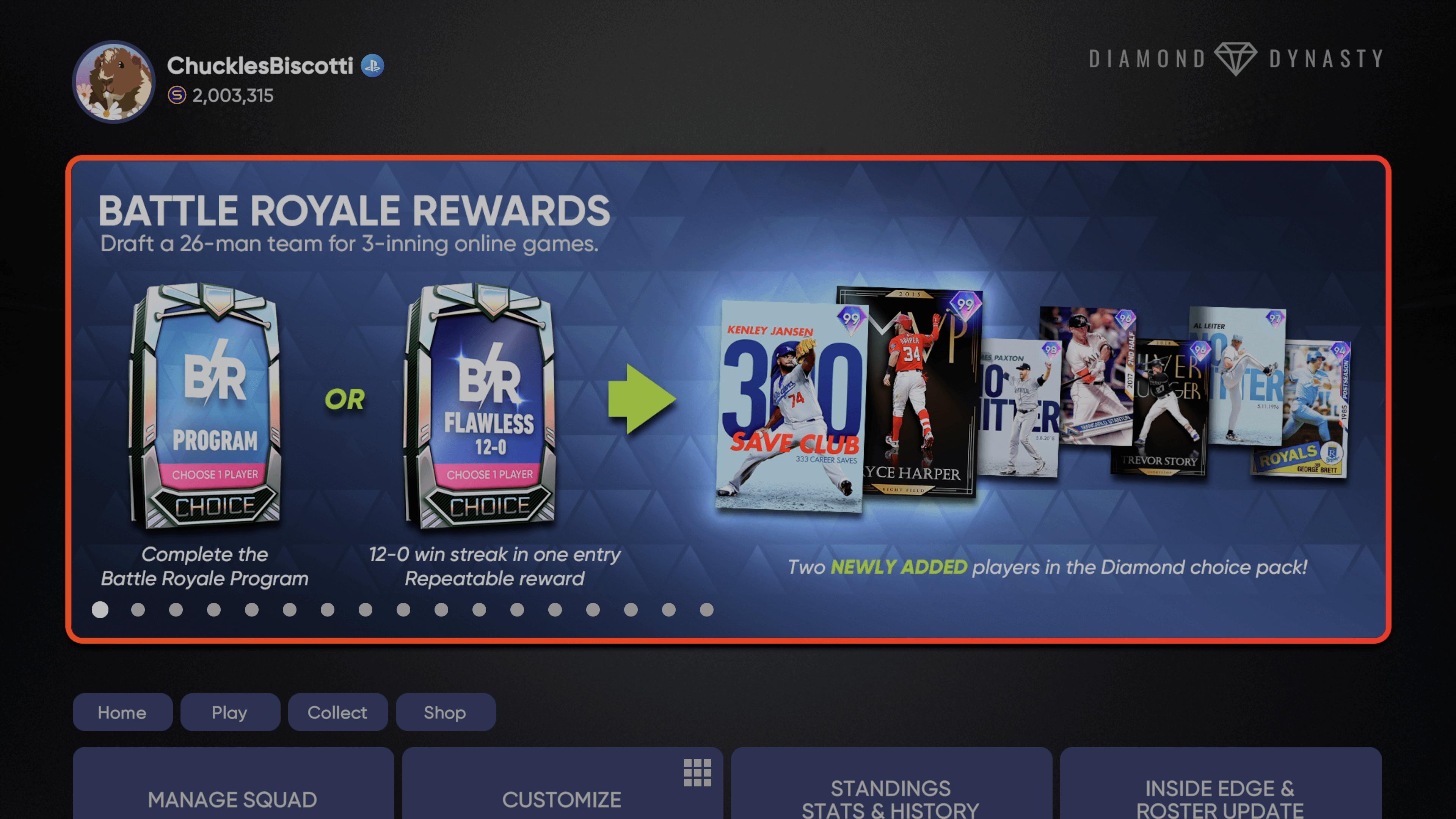 Battle Royale Season 5 MLB The Show 21