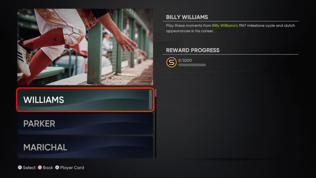 Milestone Billy Williams moments
