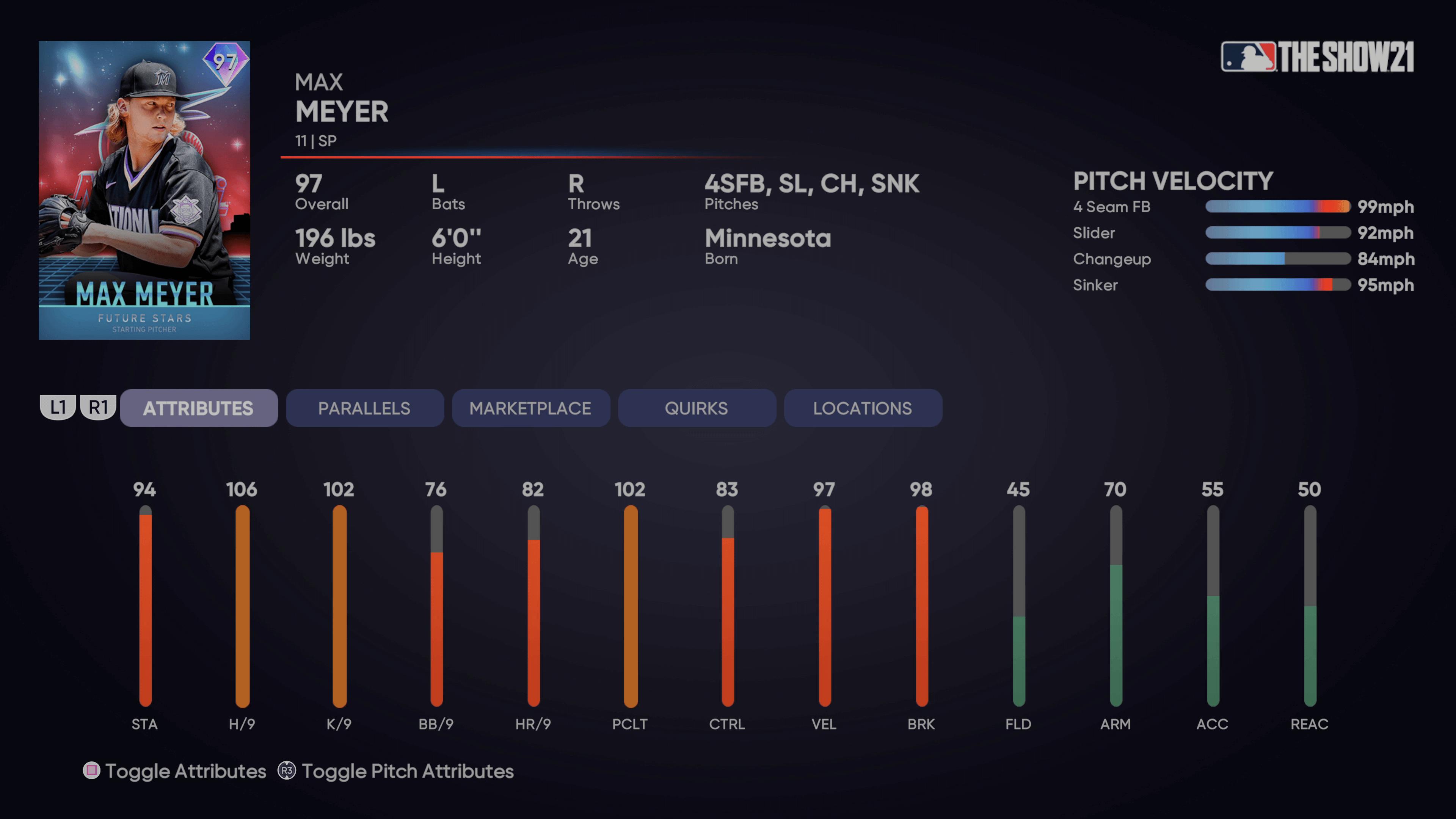 MLB The Show 21 - Headliners Set 29 Future Stars Max Meyer_2021-08-10_15-35-55