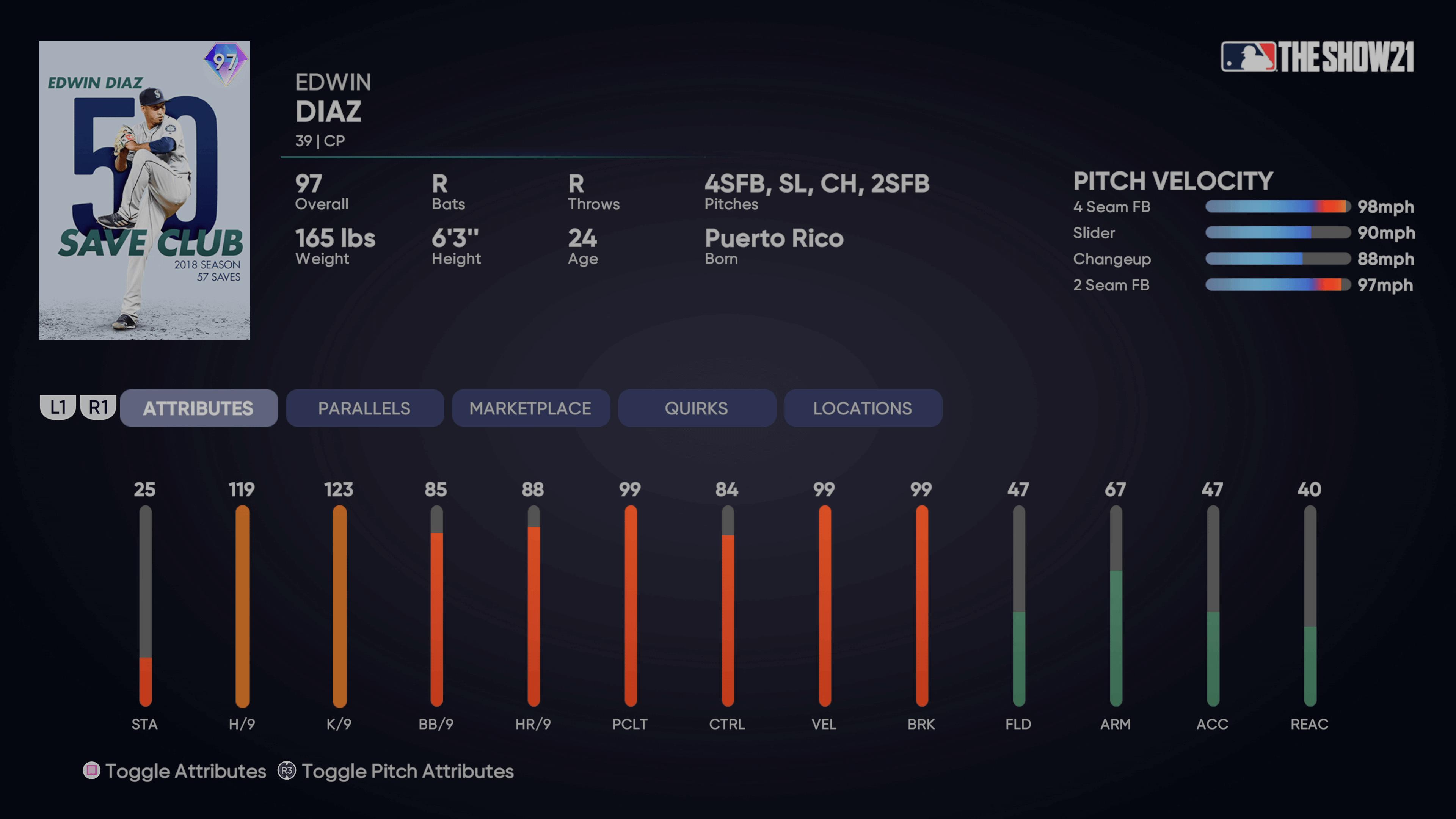 MLB The Show 21 - Headliners Set 30 Milestone Edwin Diaz_2021-08-13_15-14-26